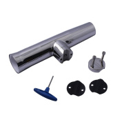 HOFFEN Stainless Steel Tournament Style Clamp on Fishing Rod Holder With Gasket And Wrench for Rails 2.2cm ~2.5cm