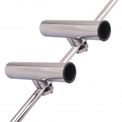 2PCS Stainless Steel Clamp-On Fishing Rod Holder for Rails 3/4'' to 1''