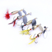 Feicuan Fishing Bait Metal Spinnerbait Tackle Lure Spoon Fishhooks Angling Crank Gear Tools Stosh