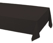 Creative Converting Touch of Colour Plastic Table Cover, 140cm by 270cm , Black Velvet