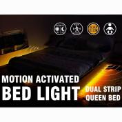 Motion Activated Bed Light Emotionlite LED Motion Sensor Bedside Light Strip Bias Lighting Bedroom Light with Automatic Off Warm White 1600K(Under Bed Cabinet Dark Corner)