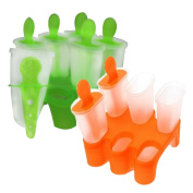 6 Cell Frozen Ice Cream Pop Mould Popsicle Maker Lolly Mould Tray Kitchen DIY