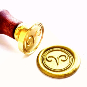 Vooseyhome the Horoscope Aries - Sign of Zodiac Wax Seal Stamp with Rosewood Handle