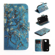 LG K3 2017 Case, Ranyi [Cute Cartoon Painting Wallet] [Card Slot/Holder] [Kickstand Feature] Luxury Magnetic Flip Folio PU Leather Wallet Protective Case for LG K3 (2017 Release), tree