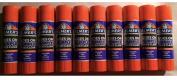 10 Elmer's Washable Disappearing Purple School Glue Sticks / .2280ml each stick - 10 sticks total / 2017 Packaging
