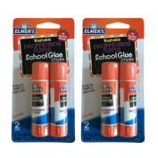 4 Elmer's Washable Disappearing Purple School Glue Sticks / .620ml each stick - 4 sticks total / 2017 Packaging