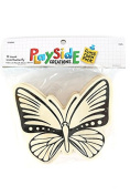 Playside Creations VBS and Camp Crafts, Wood Butterfly, Natural, 12 Count