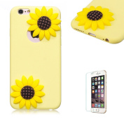 For iPhone 6S/6 Case.Funyye Cute 3D Candy Colourful Series Design Soft Silicone Back Case Cover for iPhone 6S/6-Sunflower