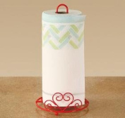 Trenton Gifts Paper Towel Holder With Scrolled Heart Design - Red