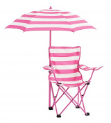 Heritage Kids NK656571 Rugby Stripe Camp Chair, Pink