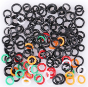 "LotFancy Wacky Worm Rig Tool and 150PCS O-Rings for 7.6cm ,4"" & 5"", 6"" Senko & Stick Soft Baits"