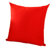 JUNGEN Square Pillowcase Cushion Cover for Home Office Bar Sofa Decoration Pure Colour Red