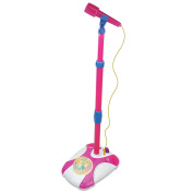 Karaoke Disco Light Adjustable Mic & Speaker Stand! Includes 12 pre-loaded Popular Songs And Connects to Ipods, Smartphones & MP3 Players