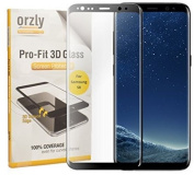 S8 Glass Screen Protector, Orzly 3d Pro-fit Tempered Glass Screen Protector For