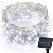 {newest Version} Grde® Polychrome 150 Led 22m Solar Powered Starry String