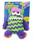 Worry Monster Plush Soft Toy Purple & Green