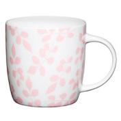 Kitchen Craft Fine Bone China Pink Leaf Barrel Mug