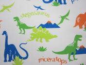 Dinosaur 100% Polyester (FLAT SHEET ONLY) Size TODDLER Boys Girls Kids Bedding