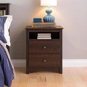 Sonoma Ellsworth Easy-to-Assemble Contemporary Espresso Tall 2-drawer Night Stand