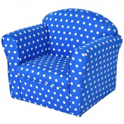 Costzon Kid Sofa Armrest Chair w/Dots, Blue