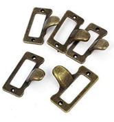 20Pcs Antique Iron Label Frame Card Holder Cup Pull Handle Drawer Box Case Cabinet Cupboard Carpenter Repair decoration Hardware