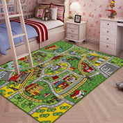 JACKSON Large Kid Play Rug for Toy Cars ,Safe and Fun Children Learning carpet With Non-Slip Backing , 130cm x 190cm Kid Play mat For Playroom ,Bedroom and Nursery