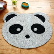 Ustide Anti-Skid PVC Kids Bath Rug Cute Panda Massage Mat Cartoon Kids Shower Mat Toilet Rug, White