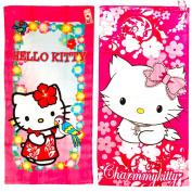 2 Piece Hello Kitty Terry Bath Towel Set, 20X40