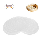 Uarter Premium Perforated Parchment Round Bamboo Steamer Paper Liners ,Diameter 23cm , Suitable for Air Fryer, Steaming Basket, Cooking, Vegetables, Rice, Dim Sum