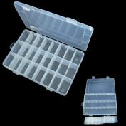 Vibola New 36 Compartment Fishing Lures Tackle Hooks Baits Storage Plastic Box Transparent Compartment Slot Organiser Storage Beads Box Plastic Jewellery Adjustable Organizador Case