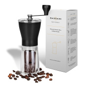 Manual Ceramic Burr Coffee Grinder | Macinino by Bassani | Ceramic Conical Adjustable Burr Assembly for Precision Brewing