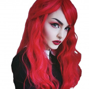 WTB Hair 60cm Long Red Curly Wavy Wigs for Women Heat Resistant Synthetic Cosplay Wig Party Hair