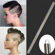 SMYTShop Beauty Set -1 Razor Pen+ 10 Pcs Razor +1Pc Tweezers -Multifunctional Professional Salon Magic Engraved Pen Stainless Steel Pen Shavings Eyebrows Sharp Pen