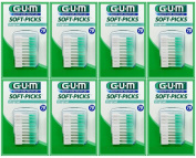 Sunstar GUM Soft-picks with Convenient Travel Cases, 8 Packs, 560 Picks