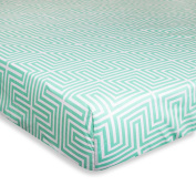 Jonathan Adler Crafted by Fisher-Price Lisbon Fitted Crib Sheet in Green