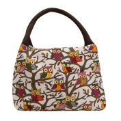 Sinfu Thermal Insulated Owl Thermal Insulated Tote Picnic Lunch Cool Bag Cooler Box Handbag Pouch Organiser Lunch Box