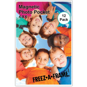 12 Pack 4 x 6 Magnetic Picture Frames Holds 10cm x 15cm Photo for Refrigerator by Freez-A-Frame Made in the USA