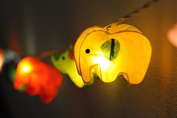 Battery AA LED Handmade Colourful Elephant Zoo Animal Plant Paper Lantern String Light Kid Bedroom Light Display Garland Colourful / 20 lights