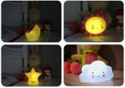 LED Baby Night Light Silicone Cute Baby Nursery Lamp- A Set of Cute Gift for kids & Baby- Kids Desk Lighting Kitten Night Warm Light