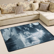 ALAZA Super Comfortable Anti-slip Unicorn Moon Night Area Rugs/Floor Mat/Cover Carpets with Small Amount of Memory Foam for Living Room/bedroom/Dining/Kids/Home Decorate 0.9m x 0.6m