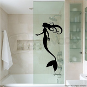 Beautifull Little Mermaid Wall Decal Vinyl Sticker Cartoon Ariel Nursery Decor Kids Room Shower Decor Girls Room