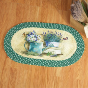 Whimsical Braided Oval Rug Mat Home Accent Decor