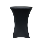 Your Chair Covers - 80cm Highboy Cocktail Round Stretch Spandex Table Cover Black