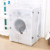 VANKER Washing Machine Cover Zippered Front Load Dust Cover, Waterproof, Deer