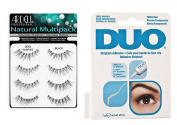 Duo Lash Adhesive (Clear, 5ml) Bundled with Ardell Demi Wispies Fake Eyelashes