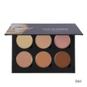 Eyeshadow Palette Kit, Inkach Women/Girls 6 Colour Concealer Primer Beauty Contour Face Cream Makeup Concealer Palette Set
