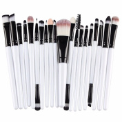 Makeup Brush Set, WuyiMC Professional Makeup Brushes Essential Cosmetics, 20 Pieces Face Eye Shadow Eyeliner Foundation Blush Lip Powder Liquid Cream Blending Brush