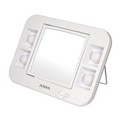 LED Lighted Makeup Mirror with 5x Magnification - White