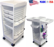 N20E-FF Aesthetician Roll-about Cart Trolley White NON lockable made in USA by Dina Meri