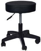 Rolling Adjustable Work Stool Home Office Round Seat Medical Hydraulic Barber Massage Chair Black
